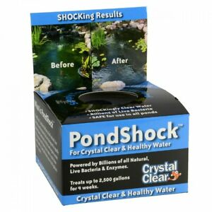 Crystal Clear PondShock 1 ball beneficial bacteria pond shock natural water