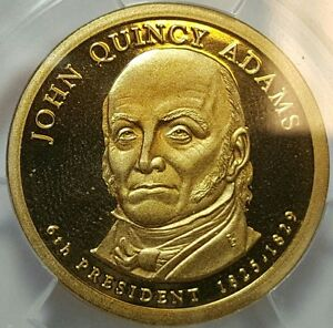 2008-S John Quincy Adams Presidential Dollar - Graded ANACS PR69DCAM Deep Cameo
