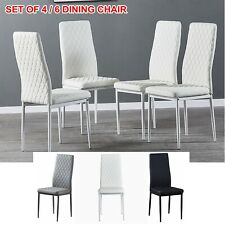 Set of 4 6 Modern PU Leather Dining Chair Armless Side Chair Dining Room Kitchen
