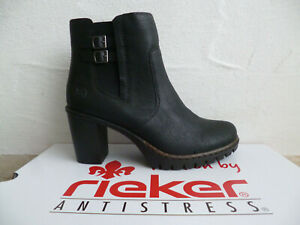 Rieker Y2569 Women's Boots Ankle Boots Black New