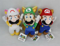 3PCS Super Mario Bros Flying Luigi Mario Soft Plush Doll Stuffed Toy 8 inch