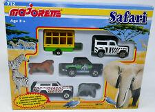 Majorette #712 SAFARI Set NEW Land Rover Pickup Jeep Cherokee Lion Elephant