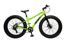 17″ COYOTE SKID ROW, 7 SPEED, 26″ FAT TYRE BOYS, NEON GREEN