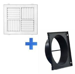 MDO 300/F365x365Square Ceiling Outlet Vents /Multi Directional with Neck Adaptor