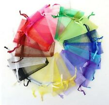 "new 100 pieces 2"" x 3"" MINI Organza Bags Wedding Party Favor Gifts many colors"