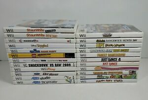 Mixed Lot of 23 Nintendo Wii Games All Tested/Working