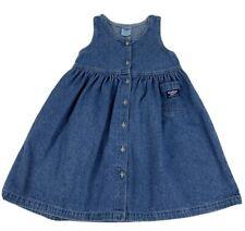 Vtg Osh Kosh B'gosh Girls Dress Denim Jumper Button Front Made In Usa Size 6X