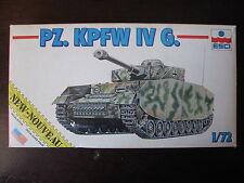 MAQUETTE 1/72 VINTAGE  GERMAN PZ KPFWIV G ESCI 8309 WWII MILITAIRE