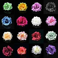 "4"" 10Pcs Artificial Rose Large Fabric Rose Flower Heads For Wedding Home Decor"