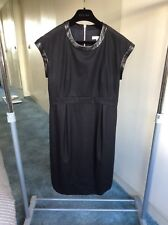 Celine black wool dress size 40 UK Size 10