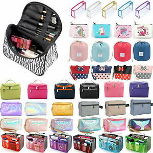 Large Traveling Cosmetic Make Up Bags Wash Pouch Toiletry Organizer Brush Holder