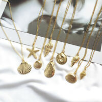 Boho Summer Women Long Chain Pendant Crystal Choker Necklace Earrings Jewelry