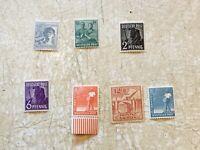 5 Germany  Occupation USSR Soviet 1946 SET MNH Sectors Set Print lot