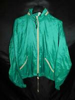 Vintage Sawyers L Mens Green Windbreaker Jacket Full Zip Stow Hood Nylon 80s 90s