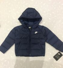 Nike Baby Boy's Hooded Navy Synthetic Fill Jacket (Size 24 Months )