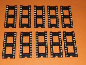 10x IC-Fassung 22-polig 10,16x2,54mm Präzisionsfassung / IC-Fassung / IC-Sockel