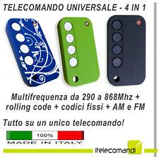Telecomando universale multifrequenza rolling code + codice fisso Faac Bft Came