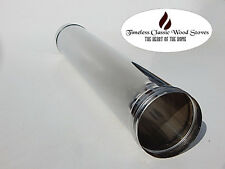 """6"""" (150mm) Stainless Steel flue Wood stove/ oven/ heater- 1M (995mm) length"""