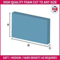 Foam Cut to Any Size / Shape Thickness - Sofa Cushions/Beds/Outdoor Seating etc