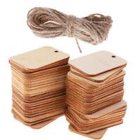 50 Stücke Holzetiketten Unvollendete Holz Geschenkanhänger Hängen für DIY
