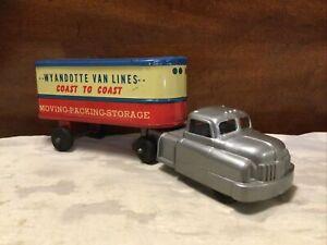 """Vintage 9"""" Wyandotte Van Lines """"Coast To Coast"""" Tractor Trailer  Semi Truck"""