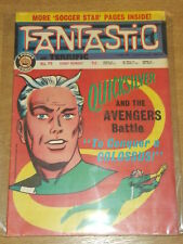 FANTASTIC #79 BRITISH WEEKLY 17TH AUGUST 1968 QUICKSILVER AVENGERS^