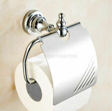 Polished Chrome Wall Mounted Toilet Paper Holder Bathroom Roll Paper Holders