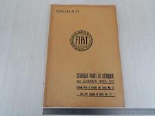 CATALOGO PARTI DI RICAMBIO ORIGINALE 1932 CHASSIS FIAT 512