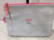 "Kate Spade NY Live Color Fully  Cosmetic bag 10 x 8"" Brand New, Sealed!!"