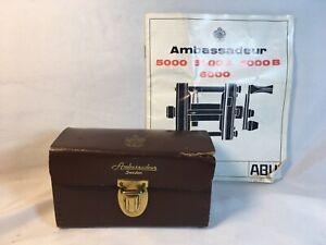 Vintage Abu Garcia Ambassadeur 5000 Reel Case and Instruction Book!