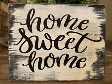 Rustic Wood Sign HOME SWEET Decor Farmhouse Family Welcome Kitchen Vintage