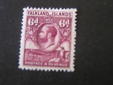*FALKLAND ISLANDS, SCOTT # 59, 6p. VALUE BROWN VIOLET KGV 1929-31 ISSUE MLH