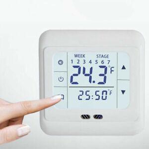 Thermostat Raumtemperaturregler LCD Digital Touchscreen Fußbodenheizung Weiß