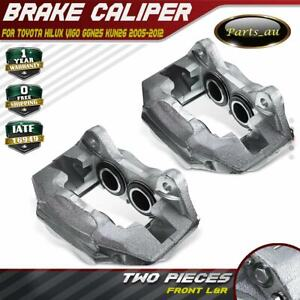2x Front L + R Brake Caliper for Toyota Hilux Vigo GGN25 KUN26 02/2005-03/2012