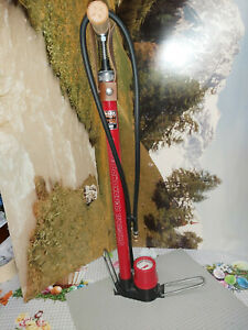 rare-SKS Bicycle Pump Rennkompressor Anniversary Edition 50 Years In Red