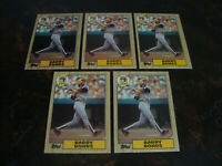 1987 Topps Baseball---Rookie---#320 Barry Bonds---Lot Of 5