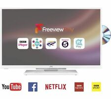 "*New* JVC 32"" Smart LED TV + Built in DVD + Freeview Play+Usb+Netflix *White*"
