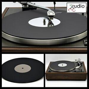 Classic Matt Black & Mirror Acrylic Platter Turntable Mat. Fits PIONEER