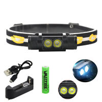 USB Rechargeable Zoom 2000LM L2 LED Headlamp Head Torch Flashlight 18650 Hunting
