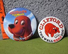 CLIFFORD Big Red Dog buttons Really Big Movie Norman Bridwell pinbacks Well Read