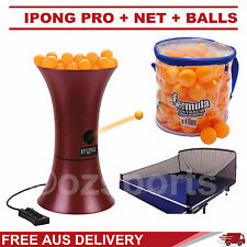 iPong Pro Ping Pong Robot/Trainer+Catching Net+100x 1 Star Yellow Balls Formula