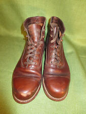 Wolverine 1000 Mile Adrian Cap Toe Brown Leather Men's Boot Size 10 D