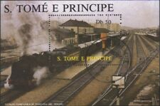 Sao Tome e Principe block174 (complete.issue.) fine used / cancelled 1987 Locomo