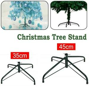 Christmas Tree Green Pine Stand Metal Holder Base Cast Iron Shelf Decor S6G5