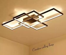 LED Ceiling Chandelier Black/White Aluminum Lamp Modern Dimmable Light Fixture