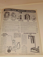 VINTAGE 1950 WESTERN AUTO LAWN, GARDEN, FARM SUPPLIES CATALOG! MOWERS/MILKERS/++