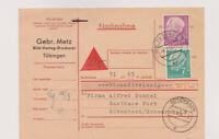 BUND, Mi. 181, 188, NN-Tübingen 8.9.56