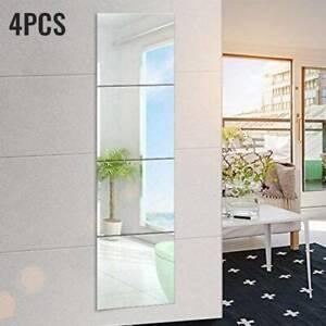 4X 3D Selbstklebende Spiegelfolie Klebefolie Badspiegel Folie Dekorative Fliesen