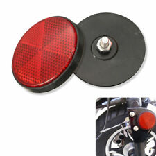 2 x 2'' Round Red Reflectors Universal  For Motorcycles ATV Bikes Dirt Bikes
