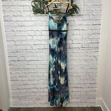 Alberto Makali New York Teal and Gray Sleeveless Maxi Dress - Size M